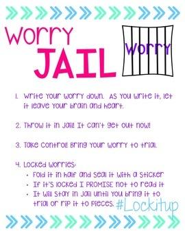 Worry Jail- #spedprepsummer1