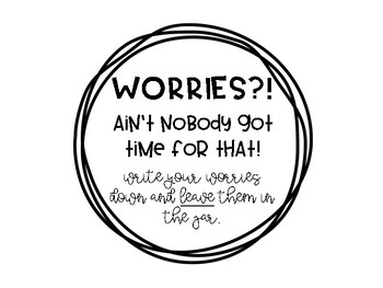 Worry Jar Freebie