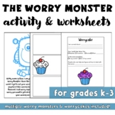 Worry Monster Activity & Worksheet: Anxiety Management (Back to School)