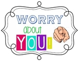 Worry about YOU!- Poster