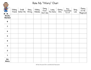 Worry, Self-Esteem Charts (Autism or Typical Child)