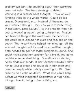 Worrying (social skills lesson)