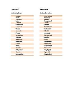 Worsheet: plural/singular- vocabulary