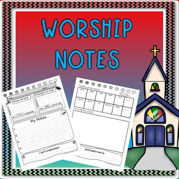 Worship Notes for kids