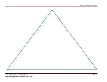 Worskheet on the Sum of the Angles of a Triangle