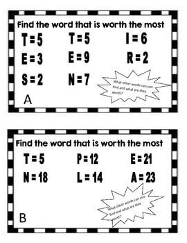 Worthy Words - Word Work for older students