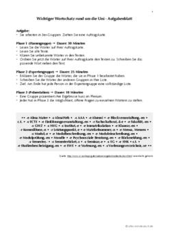 Wortschatz Universität