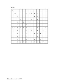 Wortsuche Wordsearch Christmas and Advent Time 2