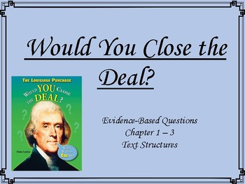 Would You Close the Deal? Text Structures