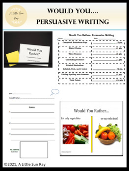Would You- Persuasive Writing