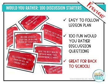 Would You Rather : 100 Back to School Icebreaker Questions
