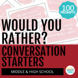 100 Conversation Starters for Middle and High School | Wou