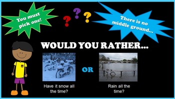 Would You Rather Questions - Projectable and Printable