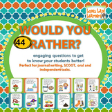 Would You Rather? 44 Getting to Know You Questions & Writi