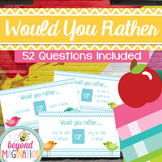 Funny Would You Rather Activity | 52 General Would You Rather Questions
