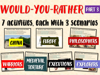 BBC Would You Rather (7 engaging middle school history review activities) PART 3