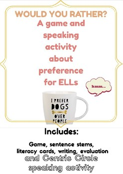 Would You Rather- ESL Activities for Preference