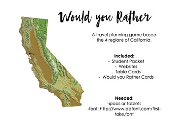 First Day Road Trip! - An Interactive Activity Based on CA Regions