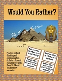 Would You Rather? Ancient Egypt Task Cards or Game