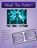Would You Rather? Ancient India Task Cards, Game, or Writing Prompts