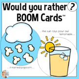 Would You Rather BOOM CARDS™ for Speech Therapy