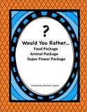 Would You Rather BUNDLE Creative writing prompts