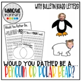 Would You Rather Be...Penguin or Polar Bear? Writing Lesson (with clip art)