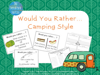 Would You Rather - Camping style