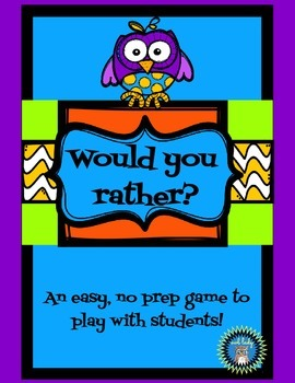 Would You Rather Cards