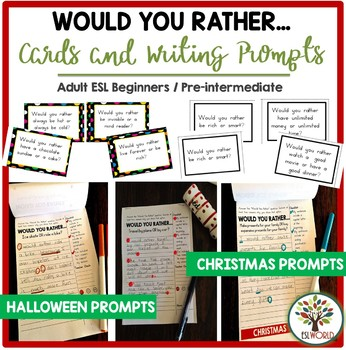 Would You Rather Questions - Writing Prompts and Task Cards