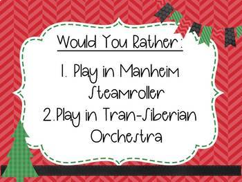 Would You Rather Christmas Music Game