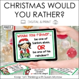 December Journal Prompts: Would You Rather?  FREE