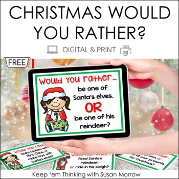 Would you rather Family Christmas Game from teachers pay teachers