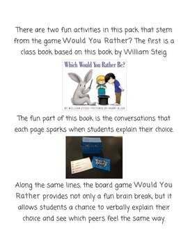 Would You Rather: Class Book & Brain Break