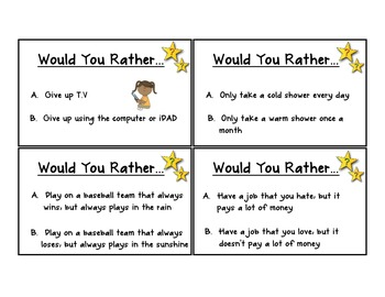 Would You Rather- Classroom PDF Edition