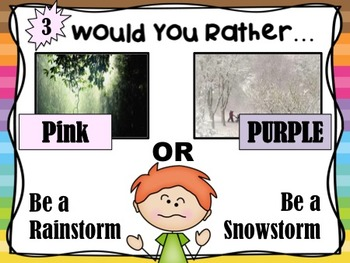 Would You Rather...?  Critical Thinking Activity: Spring  Flower Theme