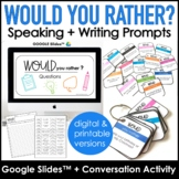 Would You Rather - Digital & Printable Questions for ESL S