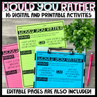 Would You Rather - Digital and Printable Activities