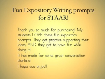 Would You Rather- Expository prompts for STAAR!