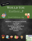 Would You Rather - Food and Cooking Edition #2