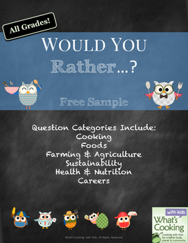 Would You Rather - Food and Cooking Edition: Free Sample