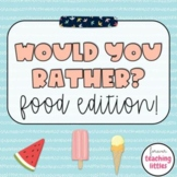 Would You Rather | Food Edition | Interactive Digital Game