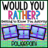 Would You Rather? Getting to know you Powerpoint Game