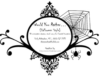 Would You Rather: Halloween Style FREEBIE