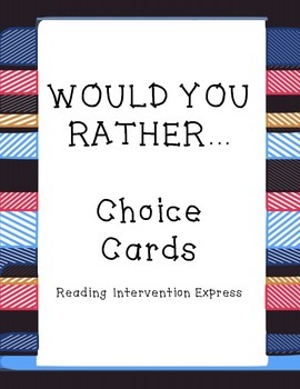 Would You Rather- Blank Cards