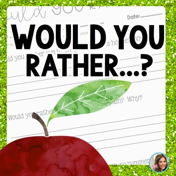 Would You Rather Questions | Beginning of the Year Activities