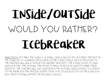 Would You Rather? Inside/Outside Circle Icebreaker Game