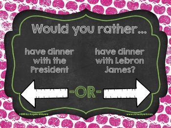 Back to School Ice Breaker - Would You Rather