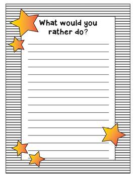 Writing Prompt Questions January Winter New Year's theme 1st 2nd 3rd 4th Grade