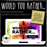 Would You Rather…Just for Fun Deck Warmup Bellringer Distance Learning